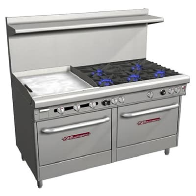 "Southbend 4606AD-2TR 60"" 5-Burner Gas Range with Griddle, LP"