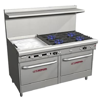 "Southbend 4607AA-2GL 60"" 4-Burner Gas Range with Griddle, LP"