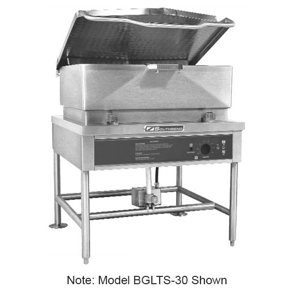 Southbend BGLTS-30 30-gal Tilting Skillet w/ Pour Strainer, Stainless, LP