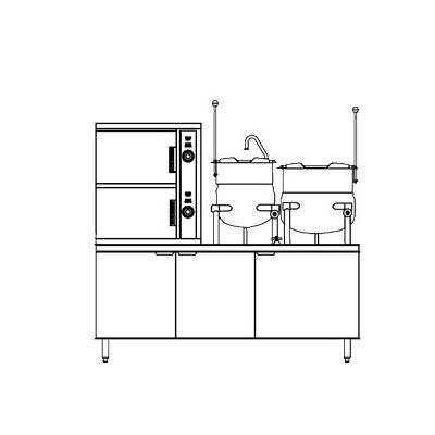 Southbend DCX-10S-10 Direct Steam Floor Model Steamer w/ (10) Full Size Pan Capacity, 120v