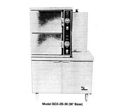 Southbend GCX-2S-36 Gas Floor Model Steamer w/ (6) Full Size Pan Capacity, LP