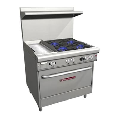 "Southbend H4361A-1G 36"" 4 Burner Gas Range with Griddle, NG"
