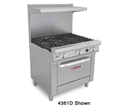 "Southbend H4361D-2TL 36"" 2 Burner Gas Range with Griddle, LP"