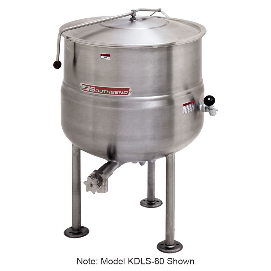 Southbend KDLS-20 20-gal Direct Stationary Kettle, Spring Assist Cover, 2/3-Jacket