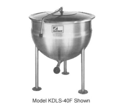Southbend KDLS-20F 20-gal Direct Stationary Kettle, Spring Assist Cover, Full Jacket