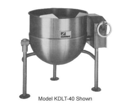 Southbend KDLT-30 30-gal Direct Steam Kettle, Crank Tilt, 2/3-Jacket