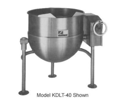 Southbend KDLT-40 40 gal Direct Steam Kettle, Crank Tilt, 2/3 Jacket
