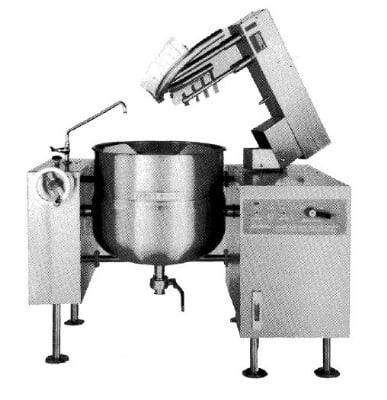 Southbend KDMTL-100 100 gal Direct-Steam Tilt-Type Kettle Mixer, 2/3 Jacket