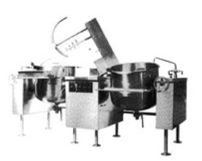Southbend KDMTL-40-2 Twin 40 gal Direct Tilt-Type Kettle Mixer, 2/3 Jacket