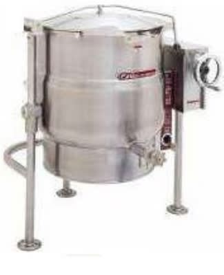 Southbend KDPT-30 30-gal Direct Crank Tilting Kettle, Pedestal, 2/3-Jacket