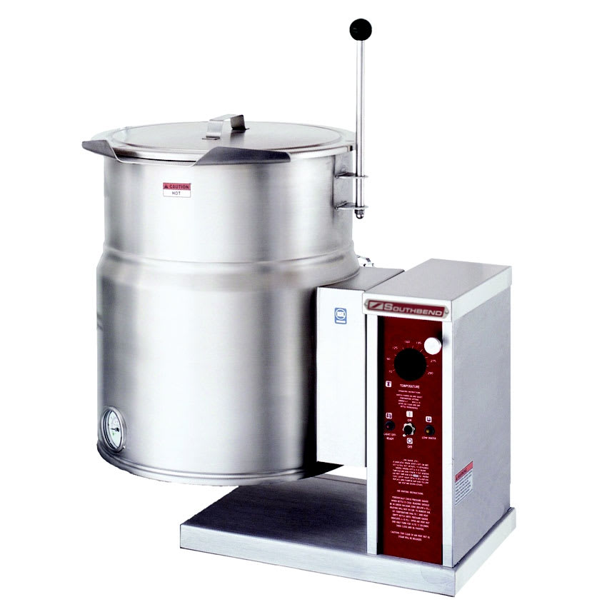 Southbend KECTC-10 10 gal Table Tilting Kettle w/ Right Crank Tilt, 2/3 Jacket, 208v/3ph