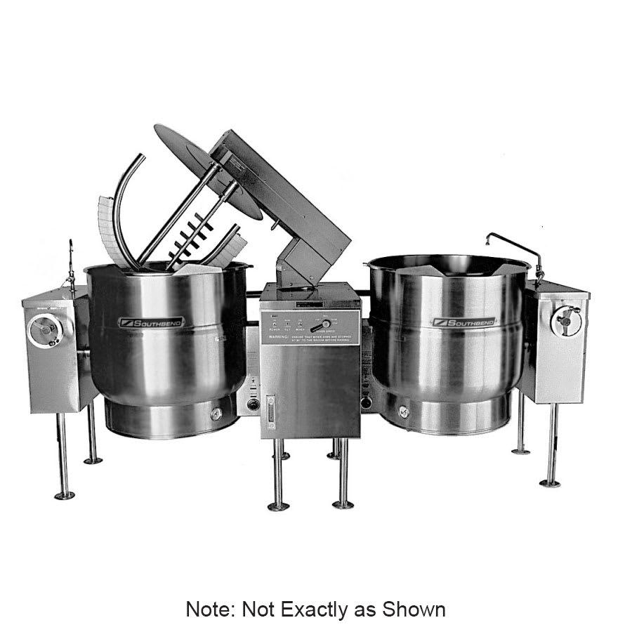 Southbend KEMTL-60-2 Twin 60-gal Direct Tilt-Type Kettle Mixer, 2/3-Jacket, 240v/3ph