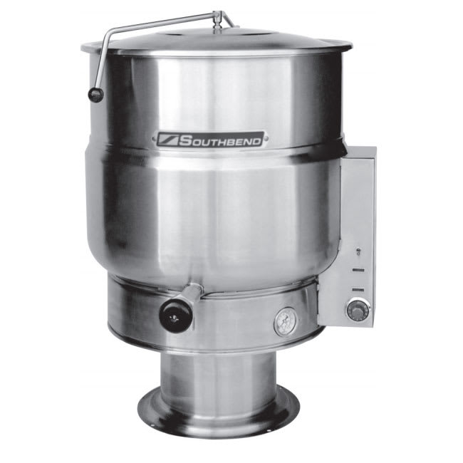 Southbend KEPS-40 40-gal Stationary Kettle, Pedestal, Thermostatic, 2/3-Jacket, 240v/3ph