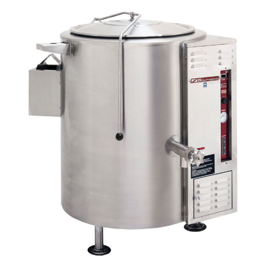 Southbend KSLG-40 40 gal Stationary Kettle, Thermostatic Control, 2/3 Jacket, NG