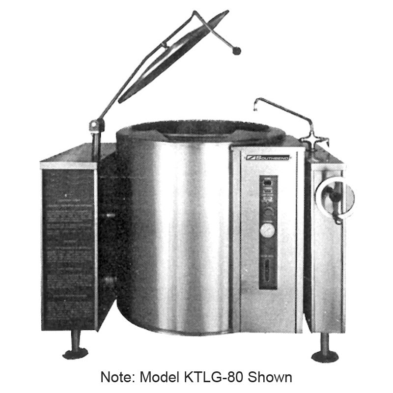 Southbend KTLG-40 40-gal Tilting Kettle, Thermostatic Control, 2/3-Jacket, NG