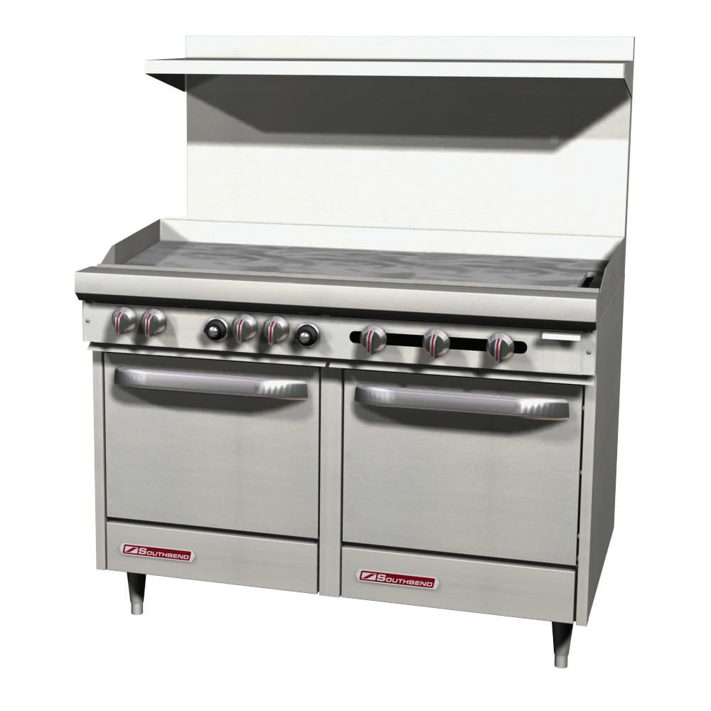 """Southbend S48AC-4T 48"""" Gas Range with Griddle, LP"""