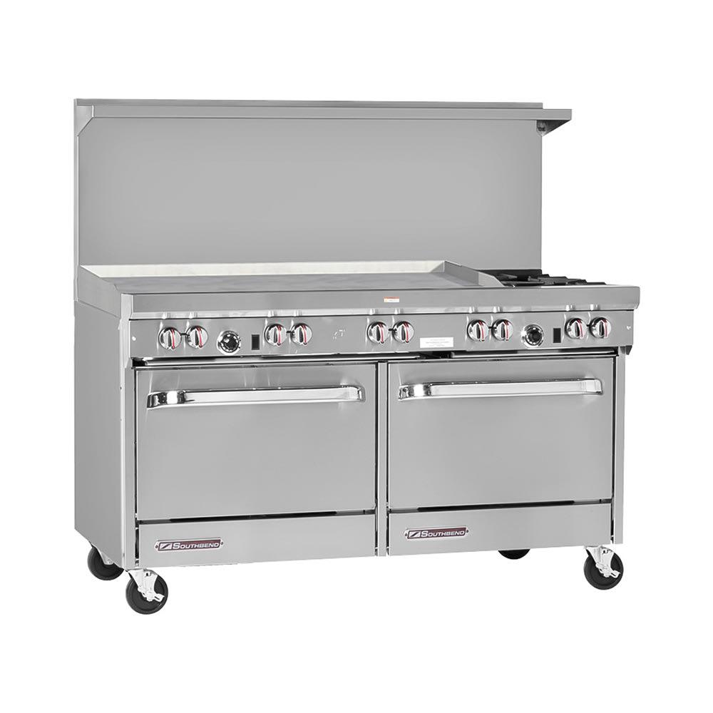 """Southbend S60AA-4GL 60"""" 2 Burner Gas Range with Griddle, LP"""