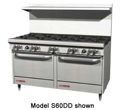 """Southbend S60AC 60"""" 10-Burner Gas Range, LP"""