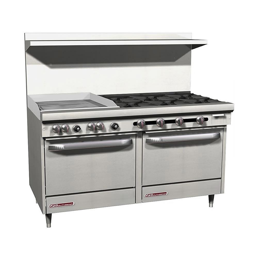 """Southbend S60DD-2GL 60"""" 6-Burner Gas Range with Griddle, LP"""