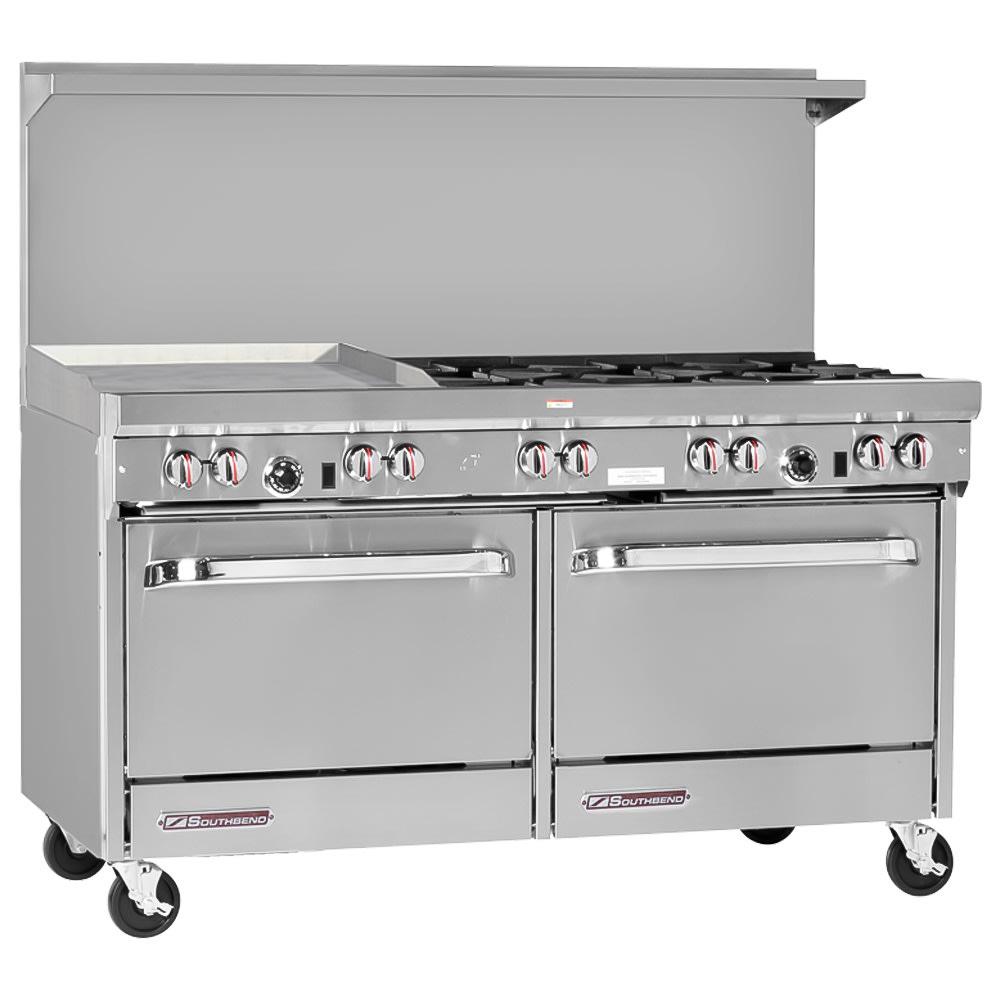 """Southbend S60DD-2GL 60"""" 6 Burner Gas Range with Griddle, NG"""