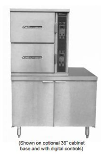 Southbend SCX-10S-36 Steam Coil Floor Model Steamer w/ (10) Full Size Pan Capacity, 120v