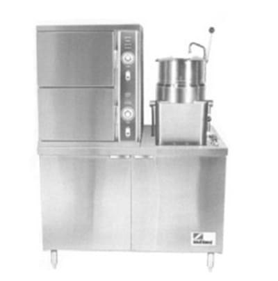 "Southbend SCX-2S-10 48"" Convection Steamer & 10-gal Kettle, Cabinet, 120v"