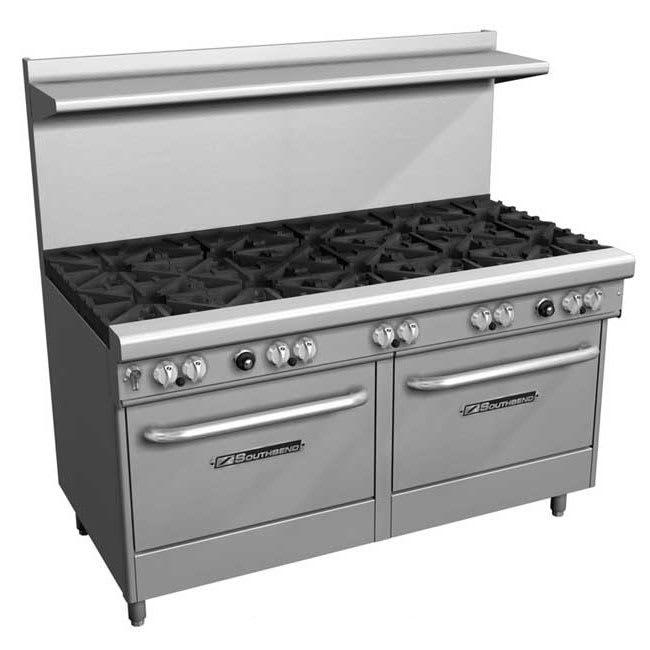 """Southbend X-4601DD 60"""" 10-Burner Gas Range w/ Standard Oven, LP"""