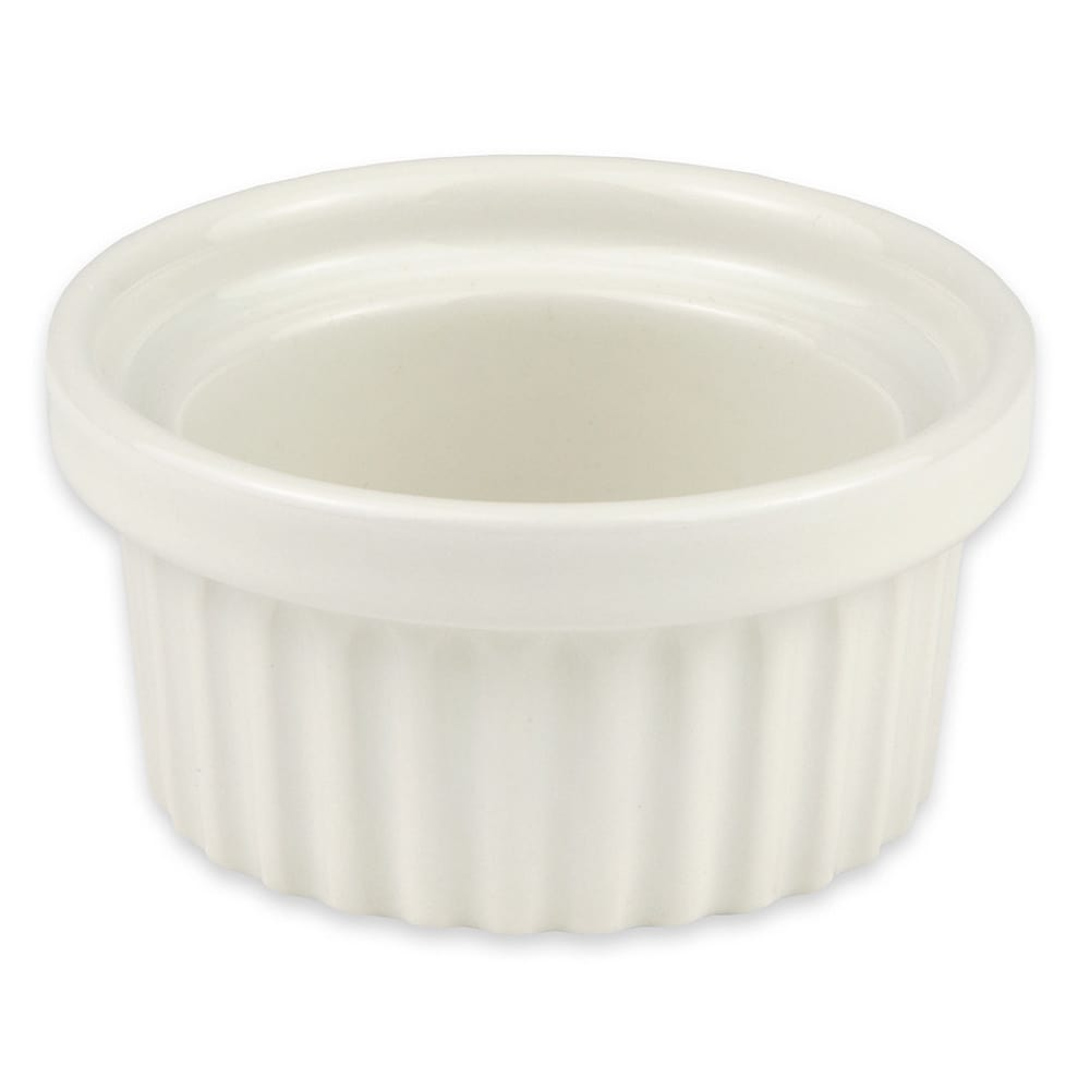 "Hall China 1130AWHA 3"" Round Ramekin w/ 2 oz Capacity, White"
