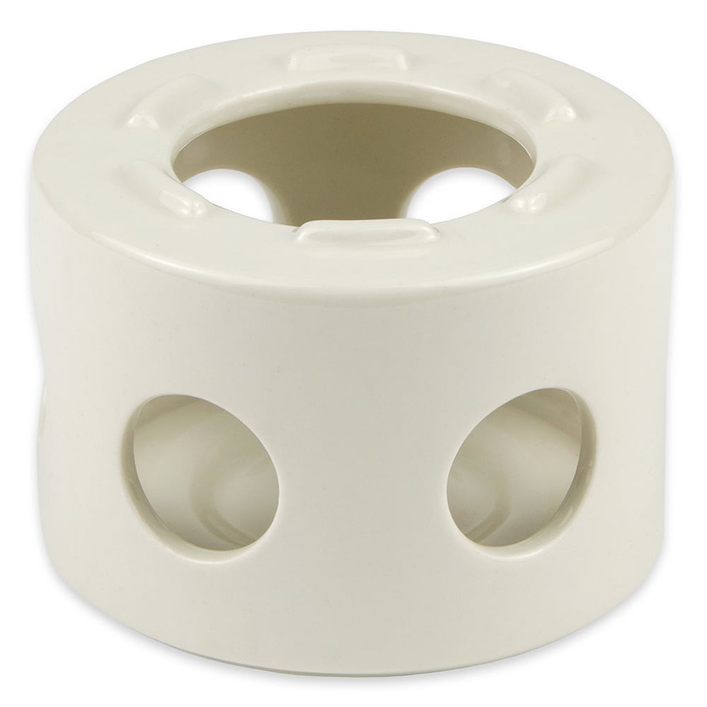 "Hall China 11430AWHA 4"" Round Butter Warmer Stand Only, White"