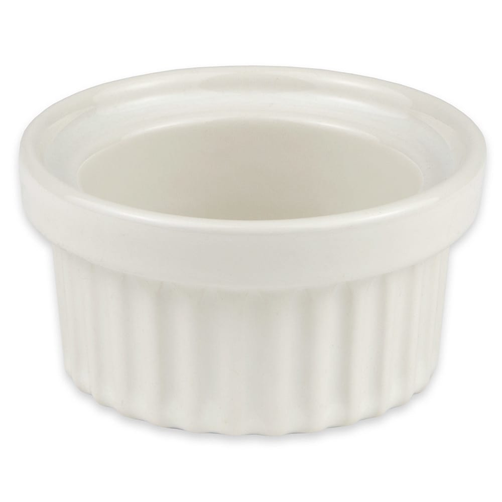 "Hall China 1140AWHA 3.25"" Round Ramekin w/ 3-oz Capacity, White"