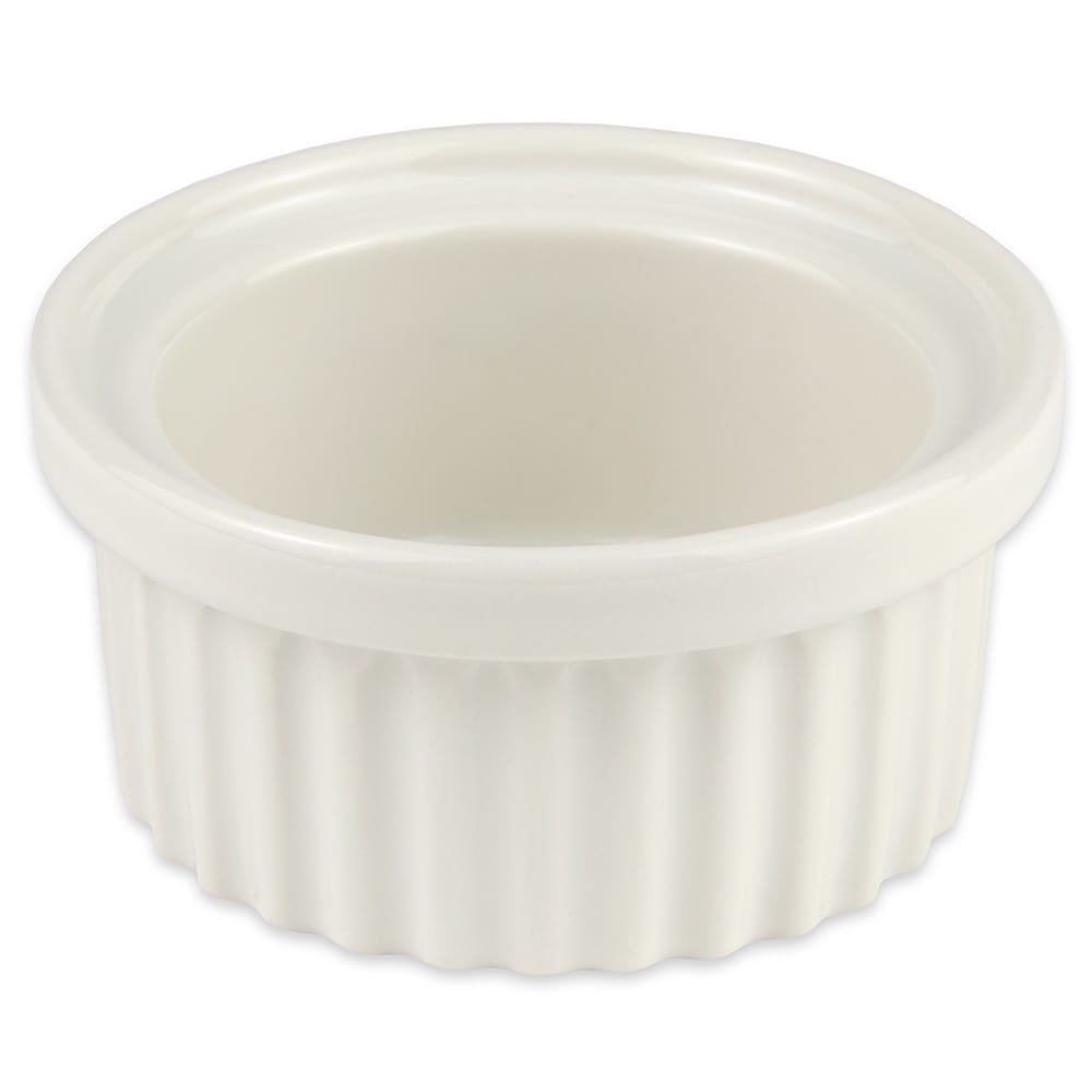 "Hall China 1150AWHA 3.625"" Round Ramekin w/ 4 oz Capacity, White"