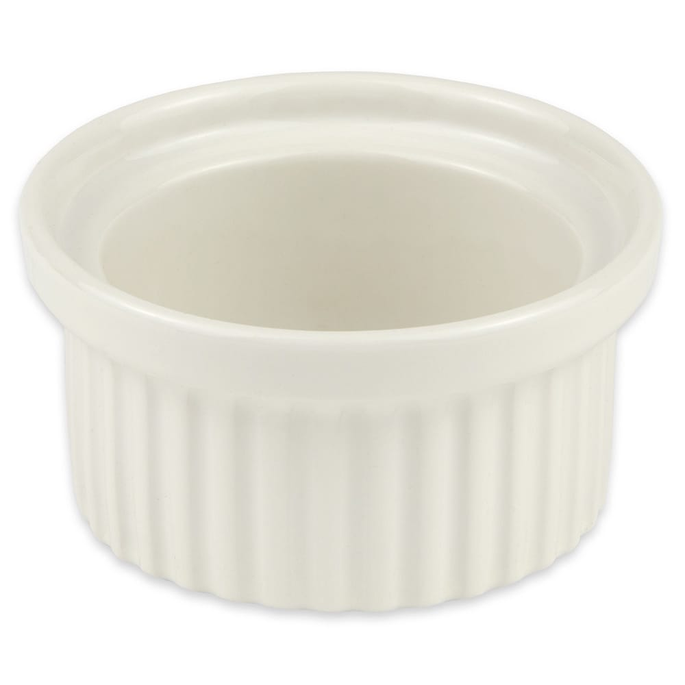 "Hall China 1160AWHA 4.1875"" Round Ramekin w/ 6 oz Capacity, White"