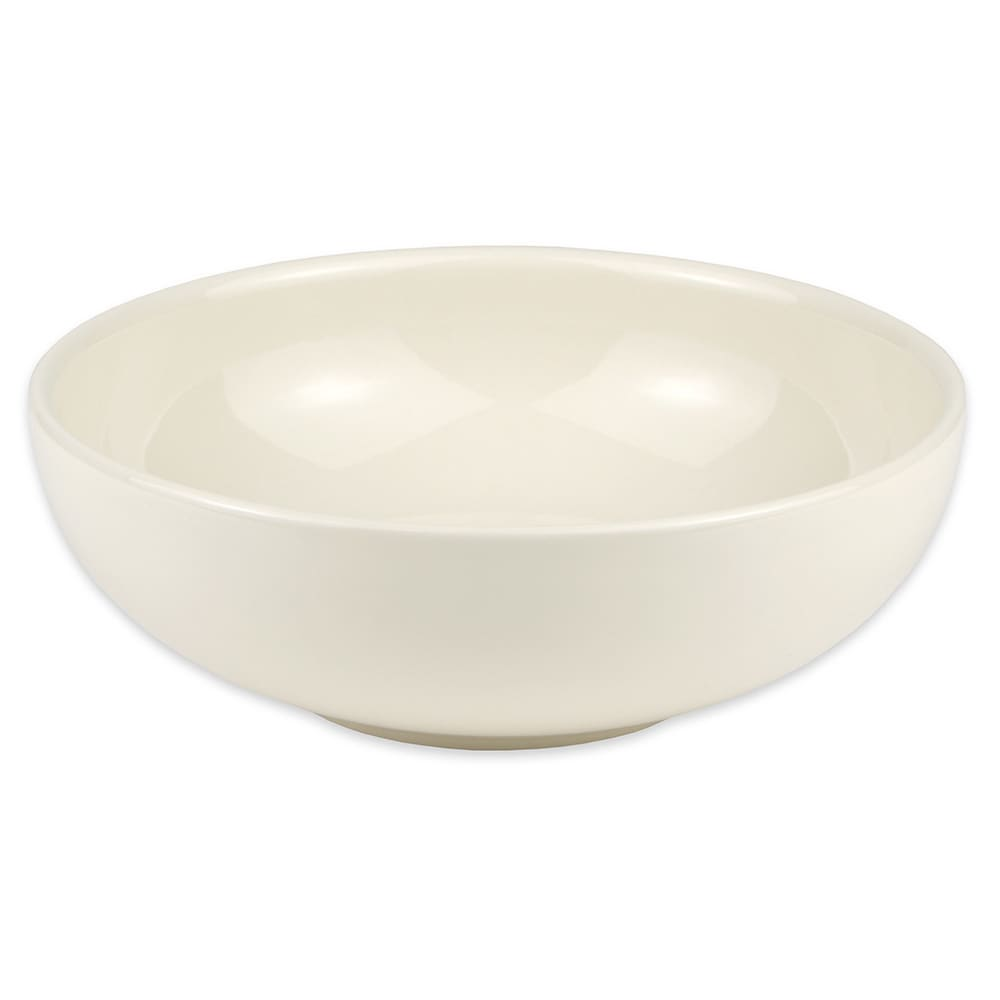 "Hall China 12930AWHA 9"" Round Pasta Salad Bowl w/ 48-oz Capacity, White"