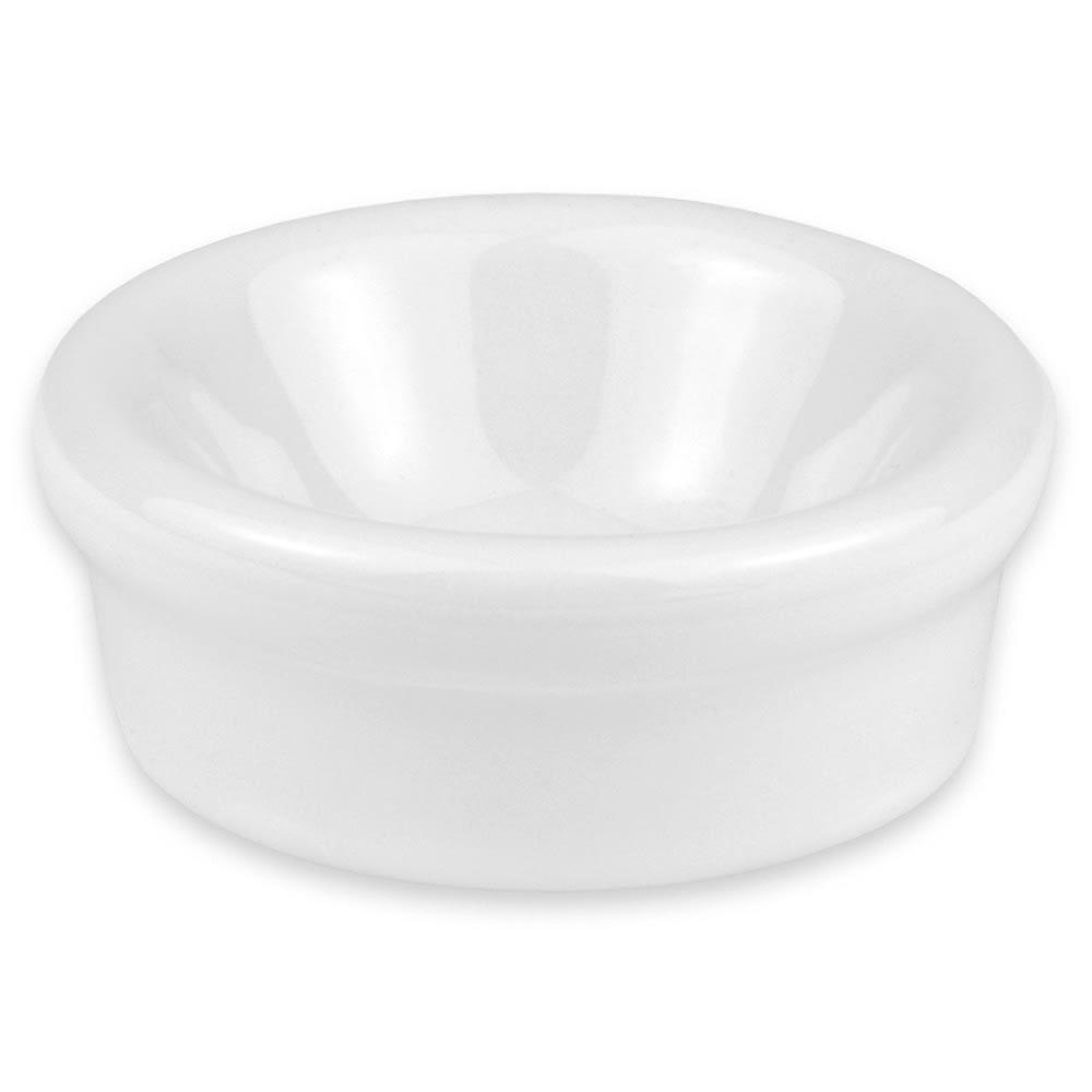 """Hall China 19190ABWA 2.25"""" Round Butter Dish w/ 1-oz Capacity, White"""