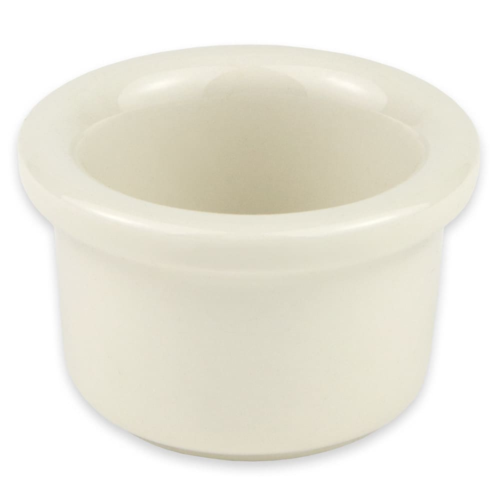 "Hall China 3710AWHA 2.125"" Round Ramekin w/ 1 oz Capacity, White"