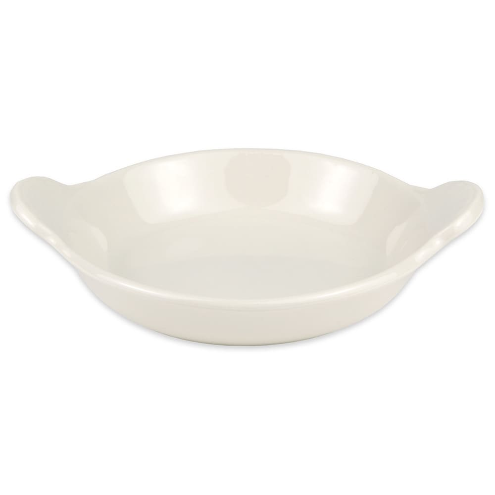 "Hall China 4310AWHA 4.75"" Round Au Gratin Dish w/ 5-oz Capacity, White"