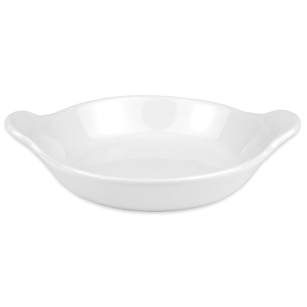 "Hall China 4340ABWA 6.5"" Round Au Gratin Dish w/ 12-oz Capacity, White"