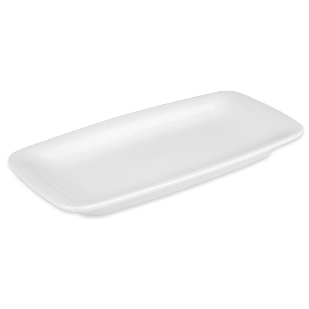 "Hall China 44740ABWA Rectangular Serving Tray, 9"" x 4.5"", White"