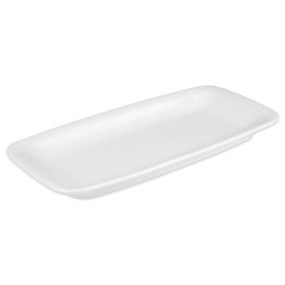 "Hall China 44750ABWA Rectangular Serving Tray, 11.5"" x 5.5"", White"