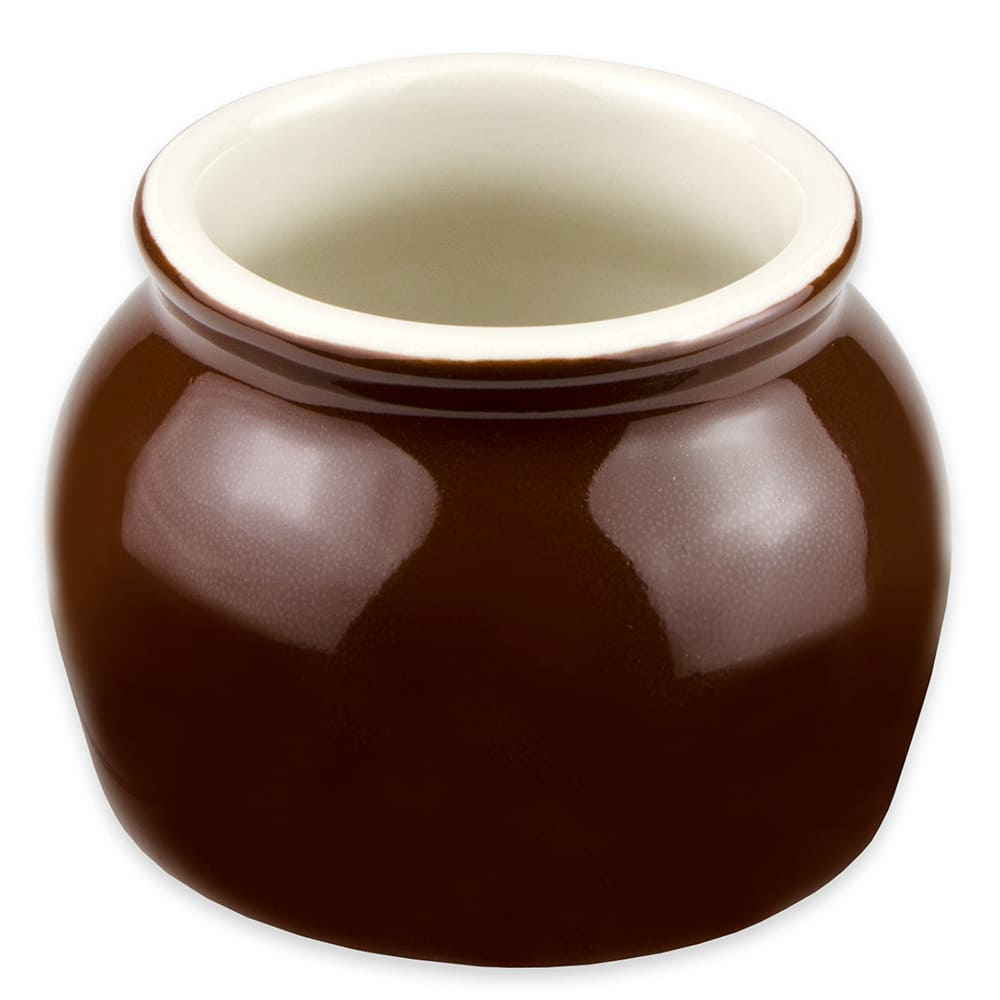 Hall China 4610ABRB 7-oz Bean Pot, Brown