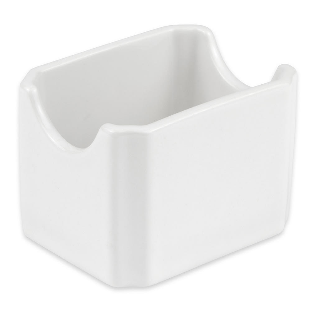 "Hall China 7160ABWA Sugar Packet Holder, 3.375"" x 2.625"", White"