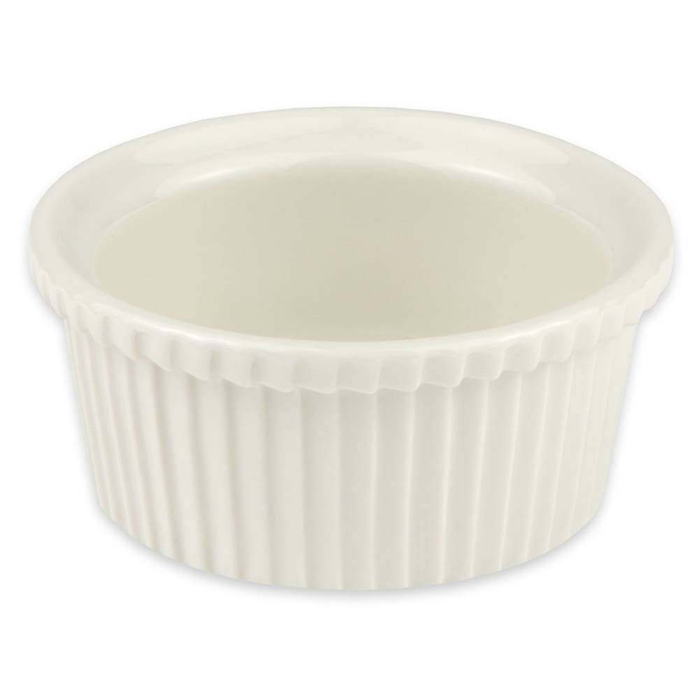 "Hall China 8430ABWA 3.75"" Round Ramekin w/ 5 oz Capacity, White"