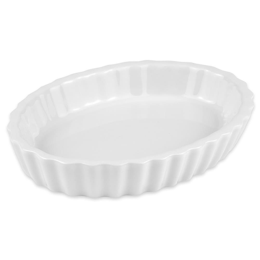 Hall China 8530ABWA Oval Souffle Dish w/ 6.5-oz Capacity, White