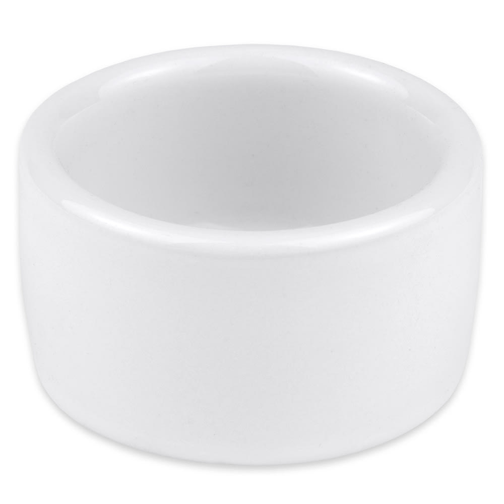 "Hall China 9150ABWA 2.375"" Round Ramekin w/ 2 oz Capacity, White"