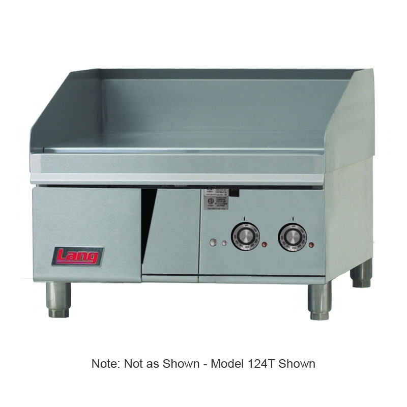 """Lang 136T 36"""" Electric Griddle - Thermostatic, 1"""" Steel Plate, 208v/1ph"""