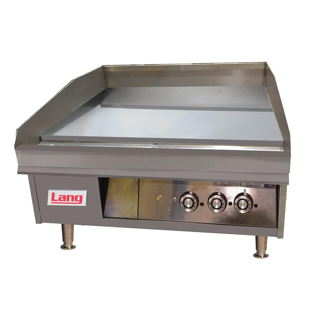 """Lang 136TC 36"""" Electric Griddle - Thermostatic, 1"""" Chrome Plate, 208v/3ph"""