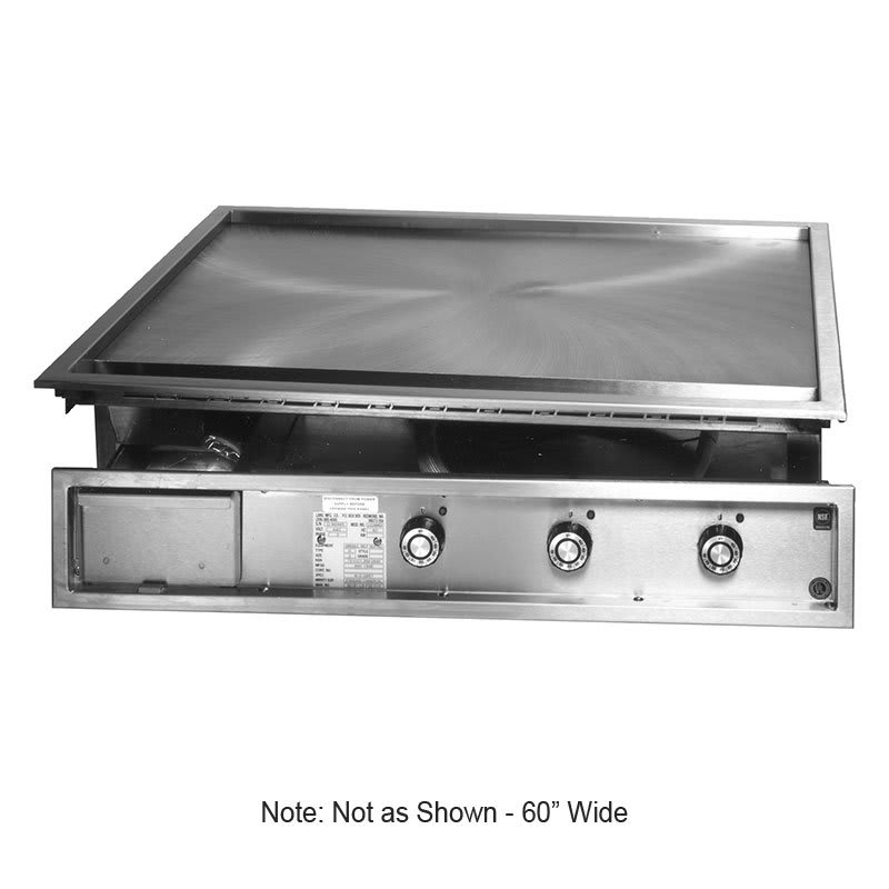 "Lang 160TDI 60"" Drop In Griddle w/ 1"" Steel Plate, Solid State, 208v/3ph"