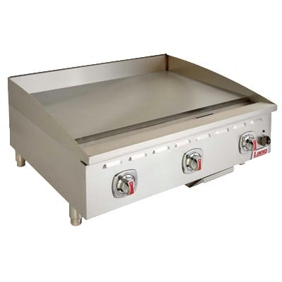 "Lang 472T 72"" Gas Griddle - Thermostatic, 1"" Steel Plate, NG"
