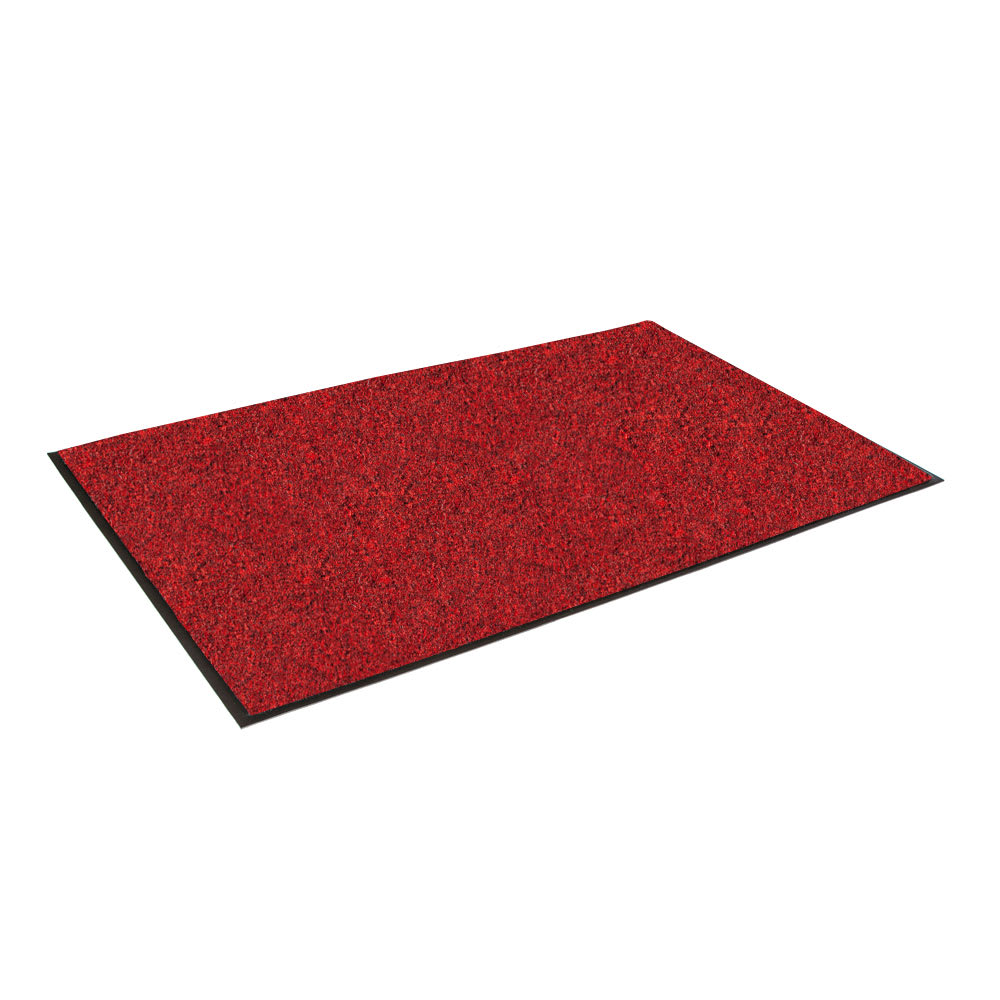 """Crown GS0035CR Rely-On Olefin Wiper Mat, 3 x 5-ft, 3/8"""" Thick, Red"""