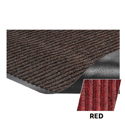 Crown NR0034RD Needle Rib Wiper Scraper Mat, 3 x 4-ft, 5/16-in Thick, Red